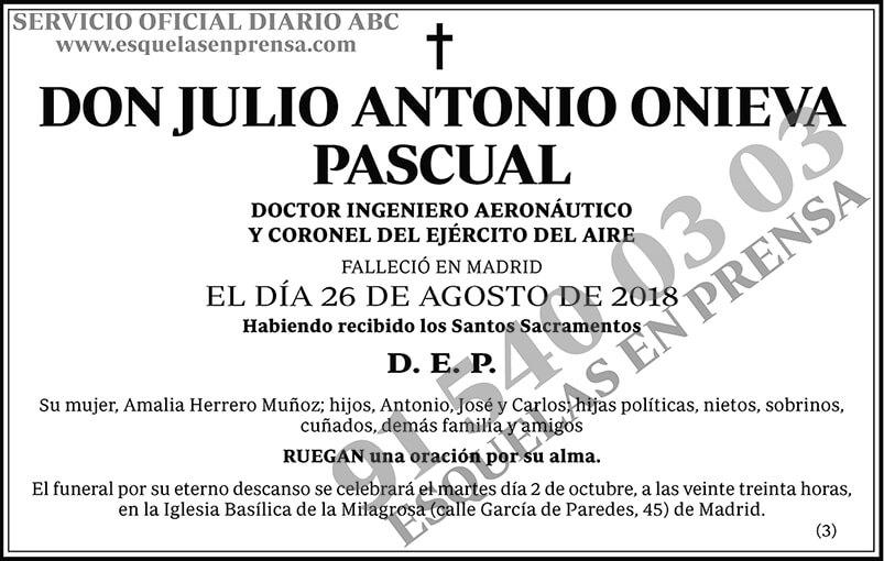 Julio Antonio Onieva Pascual